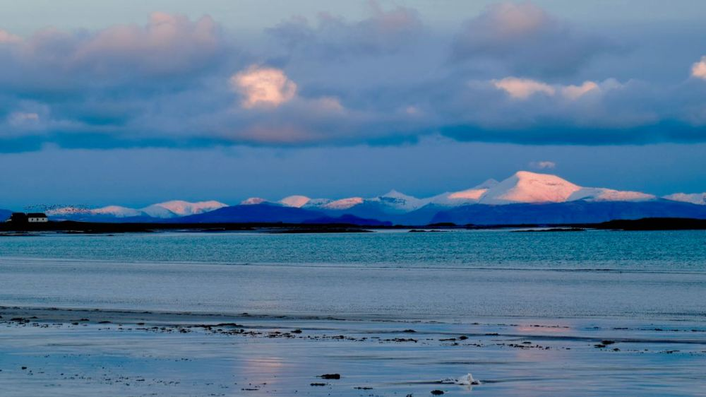 Looking across Gott Bay to Ben More