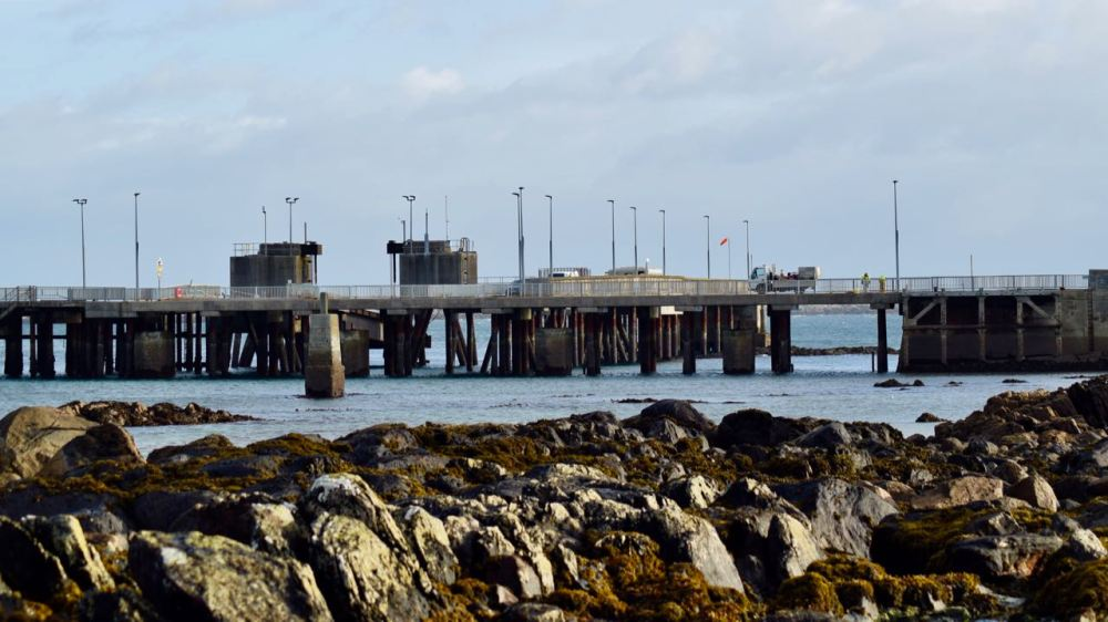 The Pier viewed from the shore at low tide