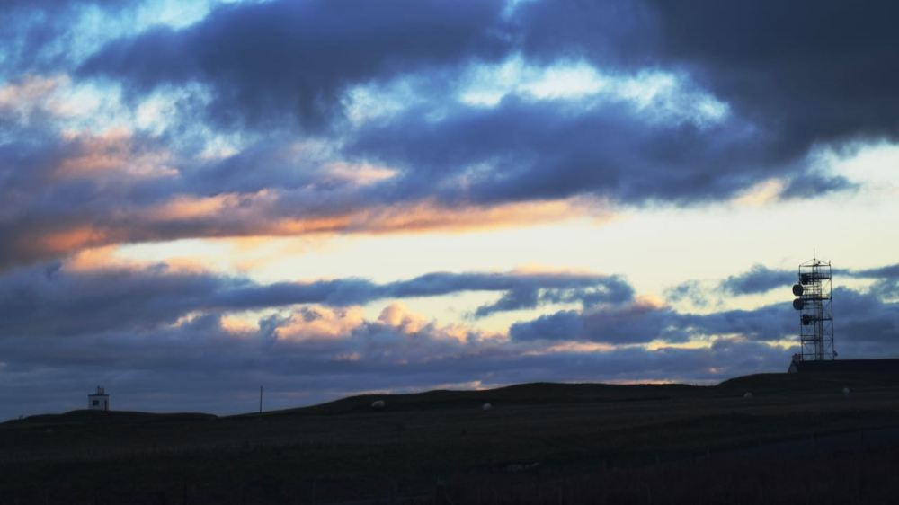 Friday's wintry sunset over Scarinish