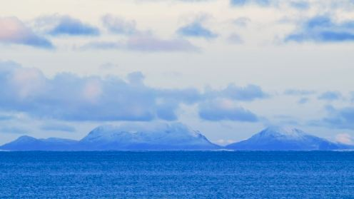 Snow capped Paps of Jura
