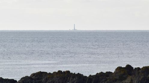 Skerryvore Lighthouse as viewed from the path