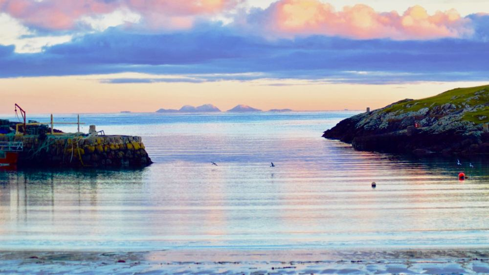 The Paps of Jura viewed from Scarinish Old Harbour