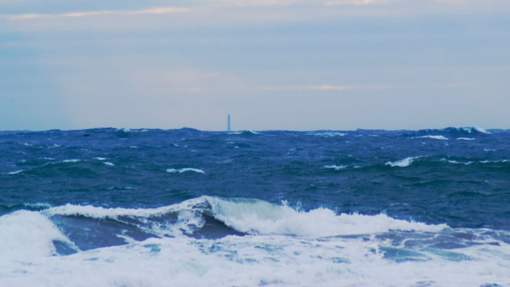 Skerryvore Lighthouse 13 miles out to sea