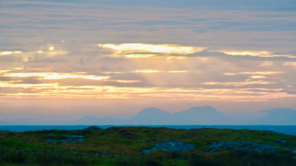The Paps of Jura from the breakfast table