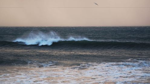 The surf at Crossapol