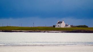 Glebe House from Gott Bay - the normal view is from the boat or pier