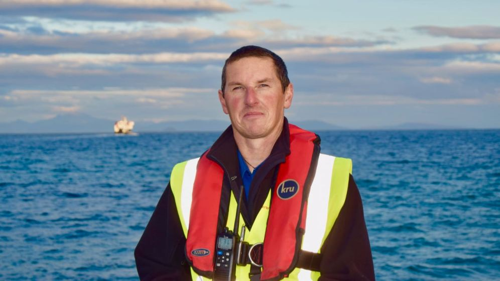 Tiree's new Pier Master, Steve Nagy