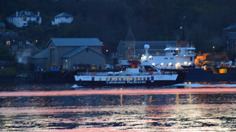 The Lismore ferry approaching her berth