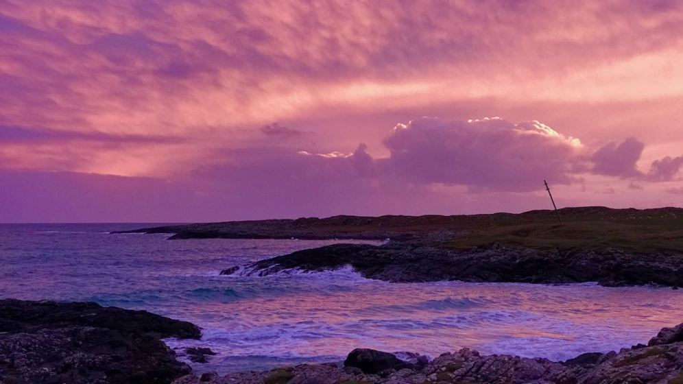 Looking out across the Passage of Tiree