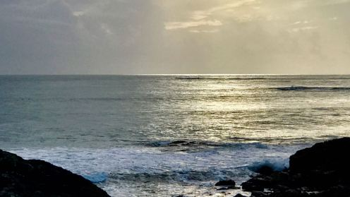 Scarinish looking out to the Passage of Tiree