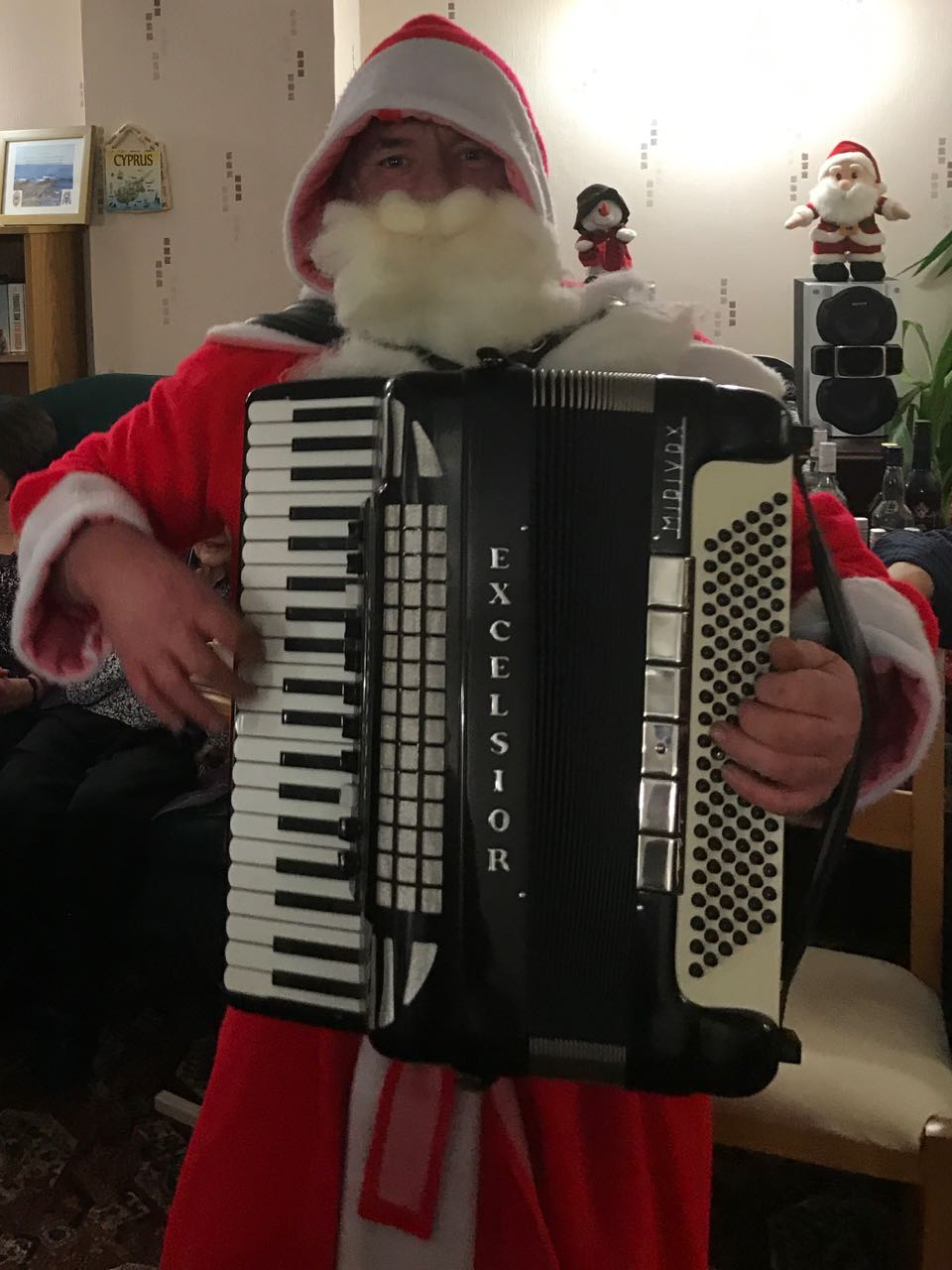 Santa joined in by playing the box before setting off to get ready for his busy night on the 24/25th