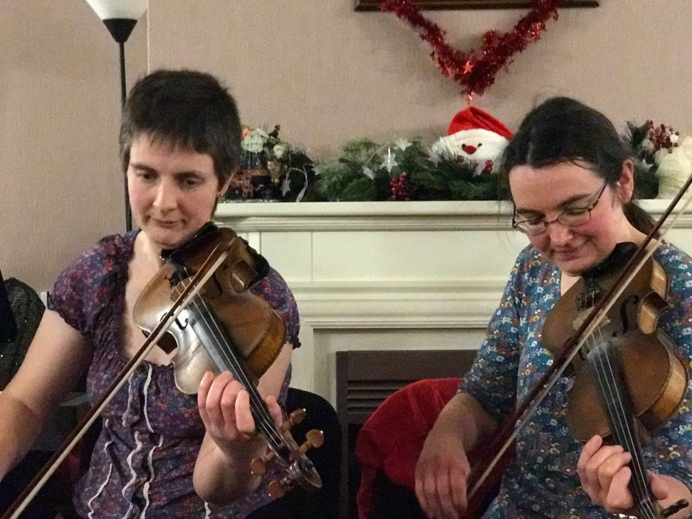 Two great fiddle players