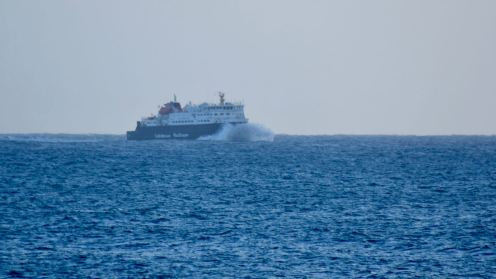 The MV Clansman in the Passage of Tiree bound for the pier at Scarinish, Tiree.