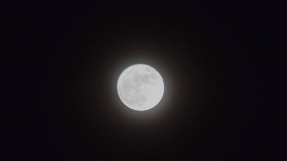 January's full moon over Tiree