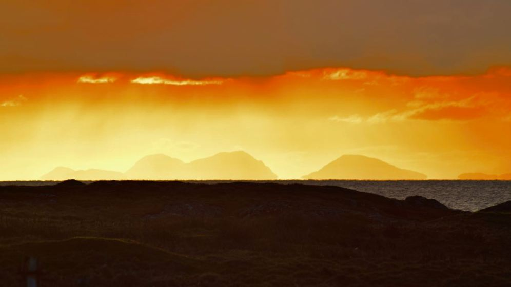 The Paps of Jura from our window