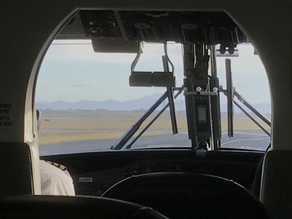 View to the cockpit
