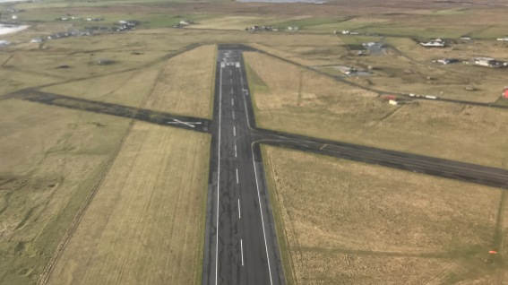 One of Tiree's runways