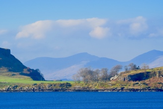 Looking across the Isle of Kerrera to the Isle of Mull