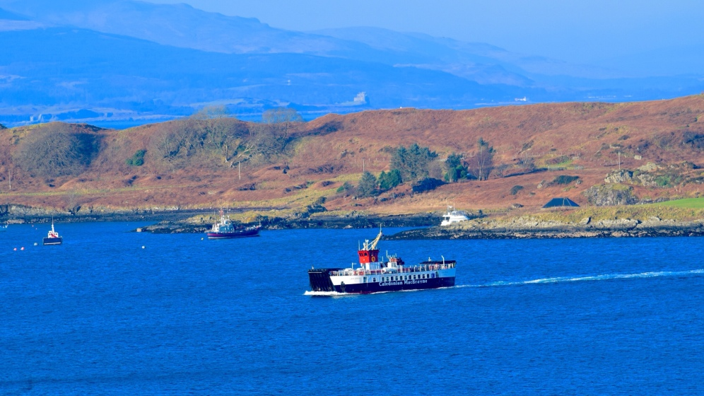 Lismore Ferry arriving in Oban Bay