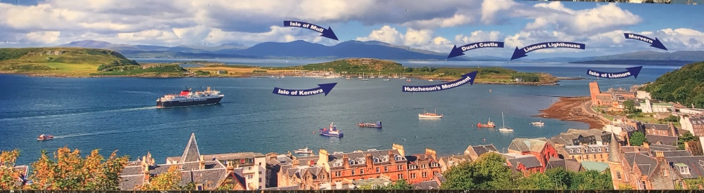 Panoramic Sign at McCaig's Tower, Oban