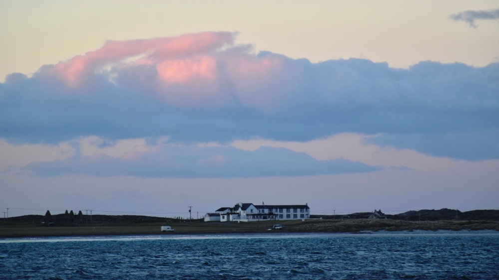 The Lodge Hotel Gott Bay at sundown