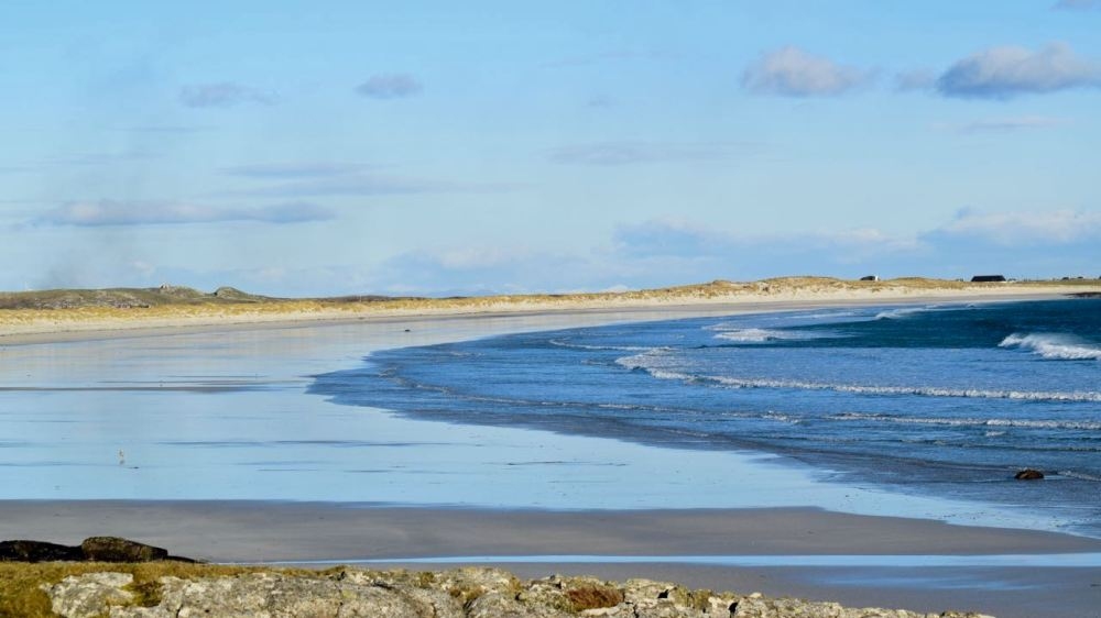 Crossapol Beach bathed in Hebridean Winter Sunshine