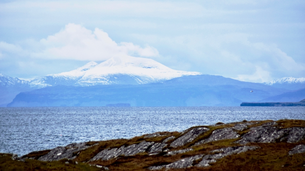 The Isle of Mull's Ben More is 23 miles distant