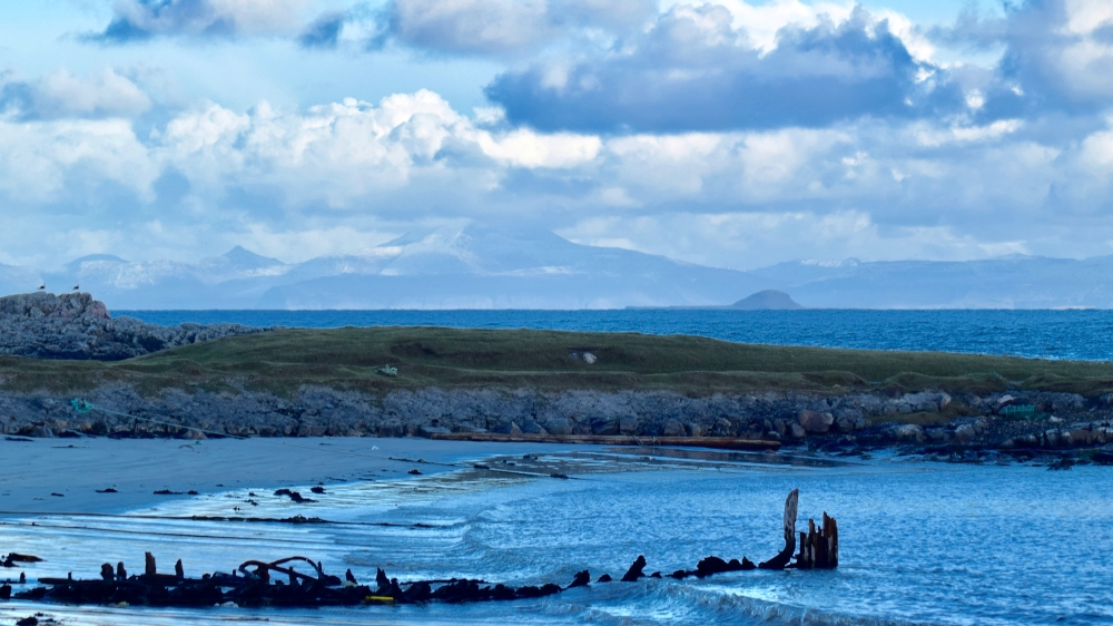 The wreck of the Mary Stewart is gradually disappearing