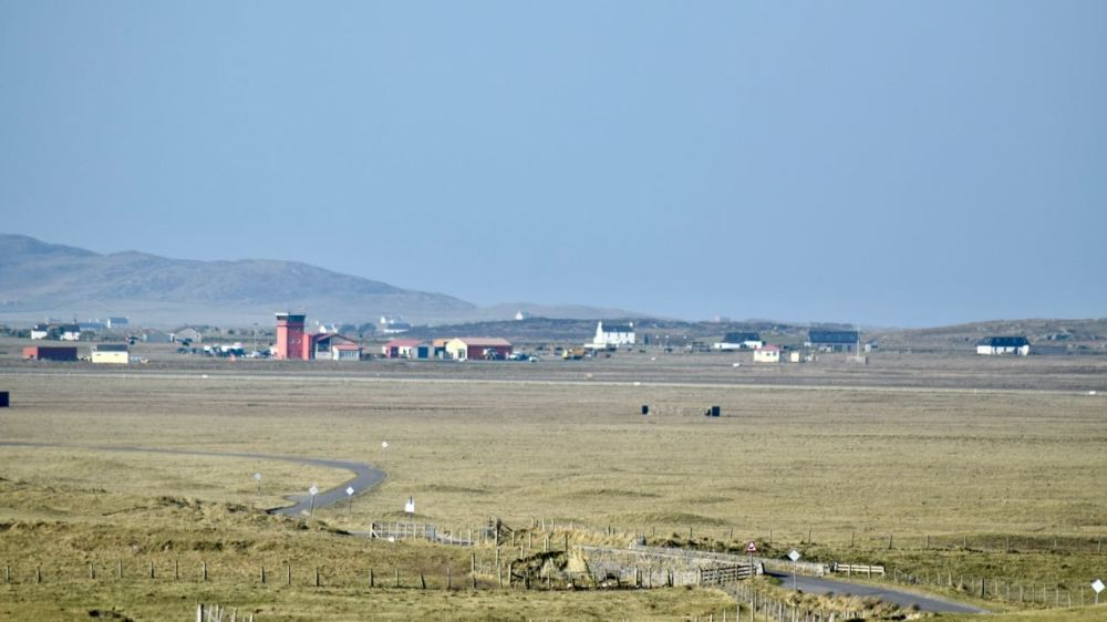 The Reef and Tiree Airport from Dr Buchanan's memorial
