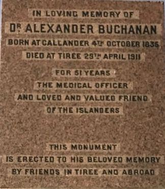 Dr Buchanan's Memorial
