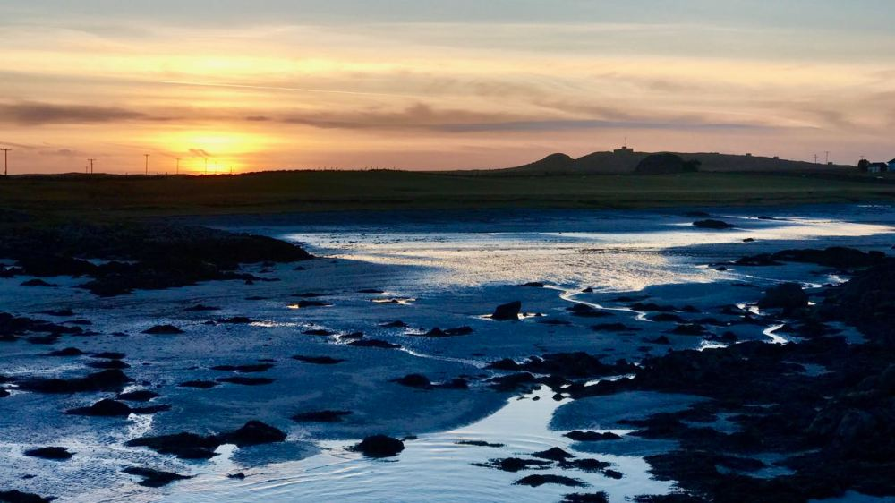 Thursday's sunset from Tiree's Pier
