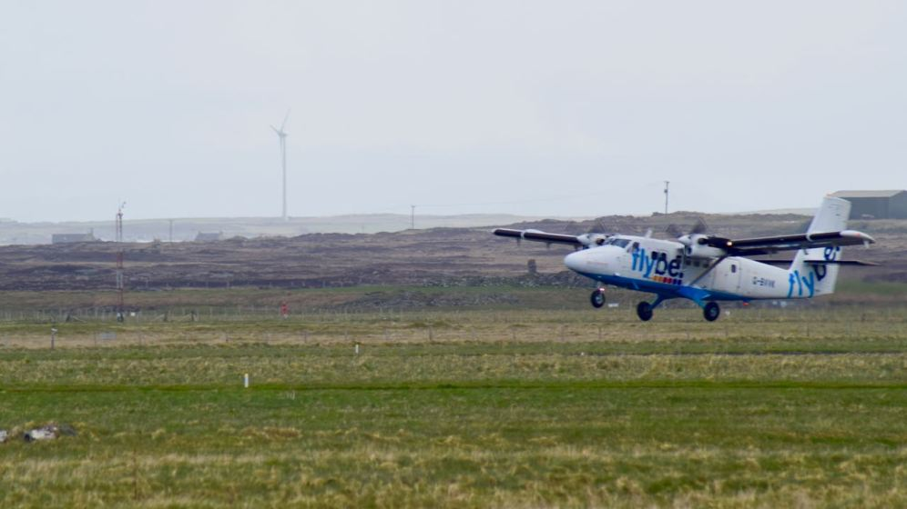 Saturday's flight taking off for Glasgow International Airport