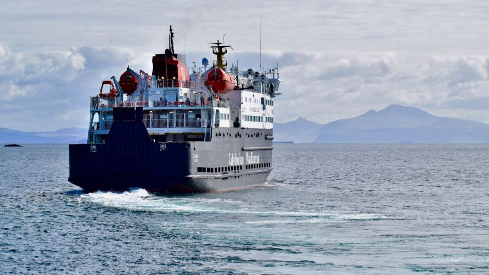 The busy ferry heads back for Coll and Oban