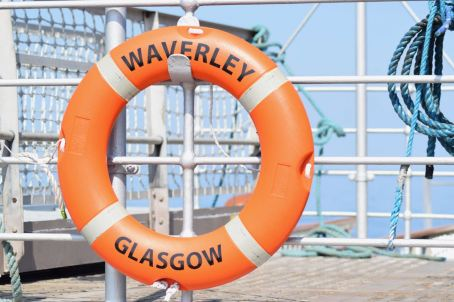 The PS Waverley cruising in the Gunna Sound