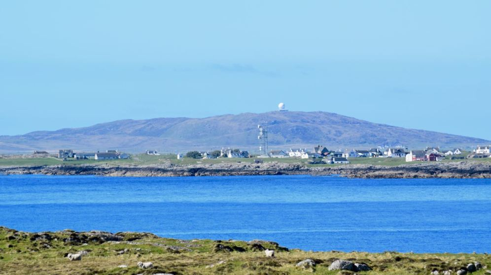 Looking from Soa to Scarinish and Ben Hynish