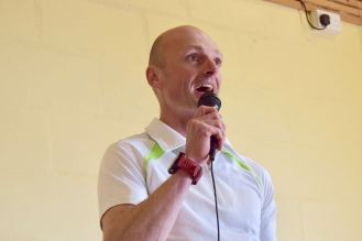 Race Organiser Will Wright gives the informative briefing
