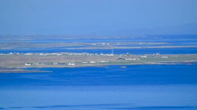 The view to Scarinish, GottBay and Gunna Sound