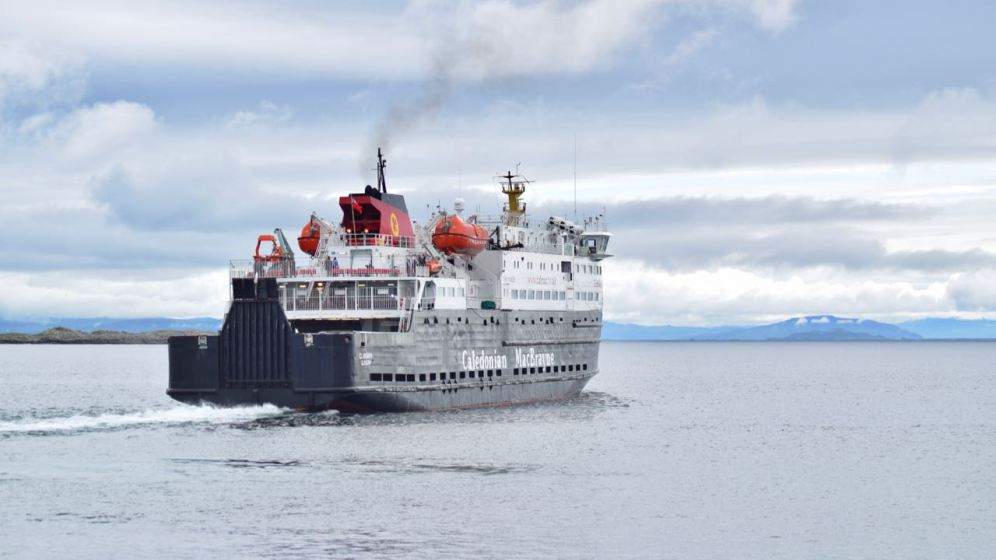 The MV Clansman sails for Coll and onwards to Oban