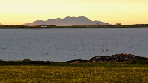 The Isle of Rum from Gott Bay