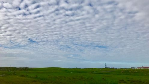 Cloud formations passing over Tiree