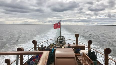 Looking astern aboard the PS Waverley