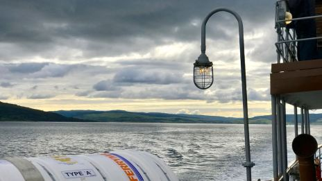 Cloudy Sky in the Sound of Mull with period lighting