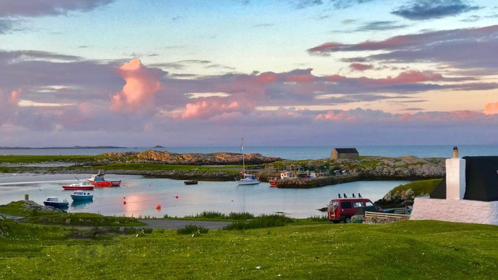 Scarinish Old Harbour from the upper road