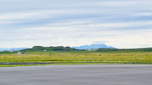 Isle of Rum from the Airport