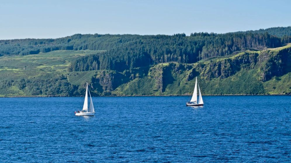 Yachts in the Sound of Mull
