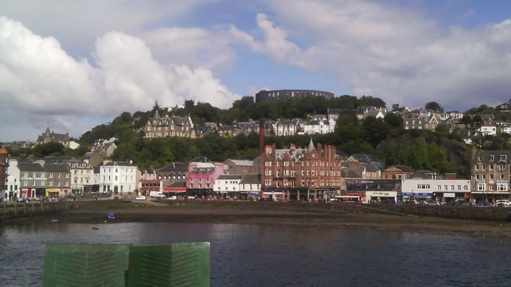 Four year old grandson's photograph captured as we leave our berth in Oban