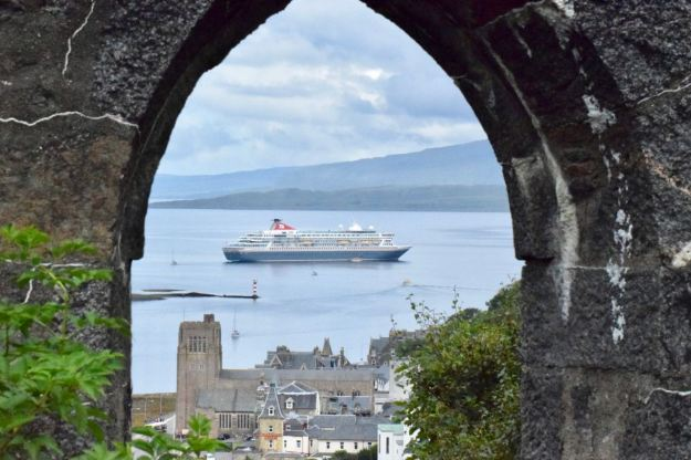 The cruise ship Balmoral from McCaig's Tower