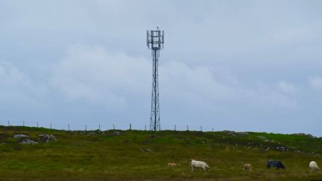 Mobile phone mast at Garaphail