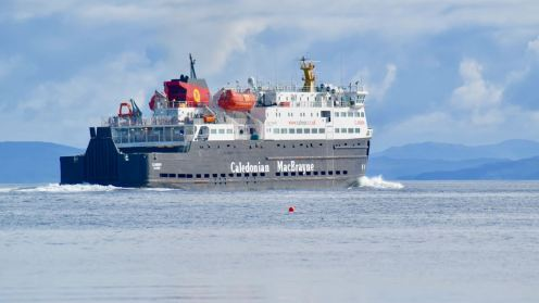 The MV Clansman heads out to sea
