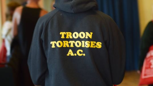 The Troon Tortoises keep appearing - airport - registration and race
